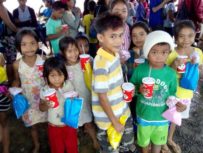 Kids enjoying jolibee