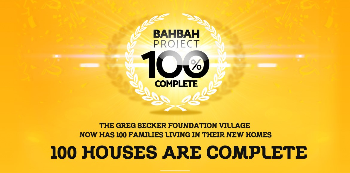 100 houses completed
