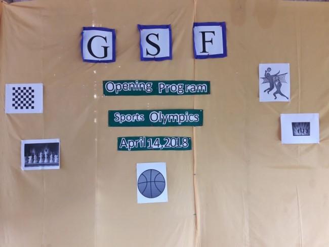The GSF Village Sports Olympics has begun ….
