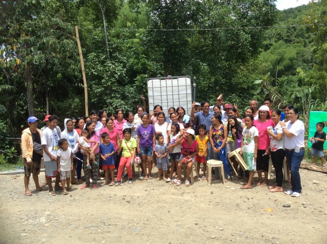 Ric Patricio holds a 'Wash Seminar' in the village.