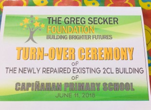 The Turn-over ceremony of Capinahan Primary School.
