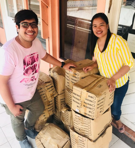 Biscuit delivery from ABS CBN Lingkod Kapamilya Foundation Inc. Bantay Bata 163 Iloilo.