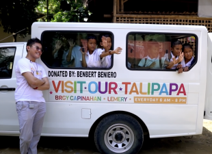 Benbert Beniero kindly donates enough money to buy a bus for the GSF Village.