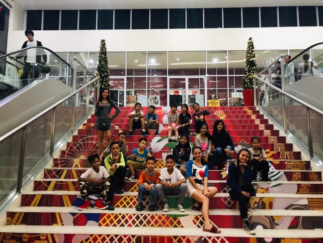 The GSF children arrive in Iloilo City to celebrate Children's Month.