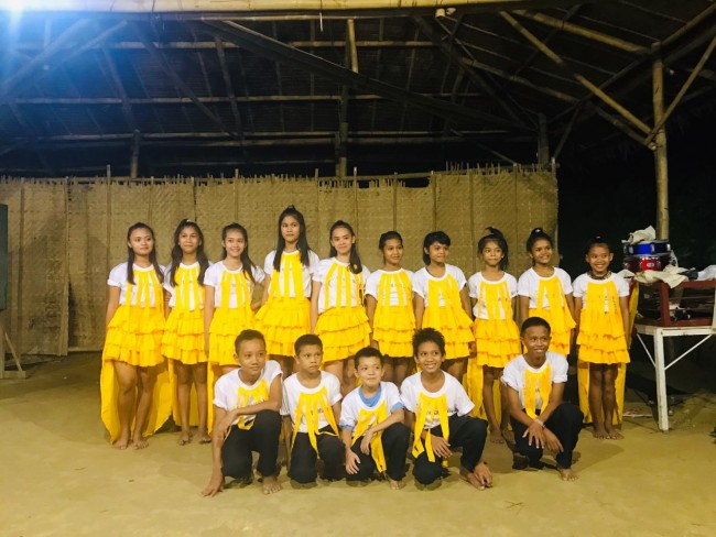 The children from the village represent GSF at the Children's Month Celebrations in Iloilo.