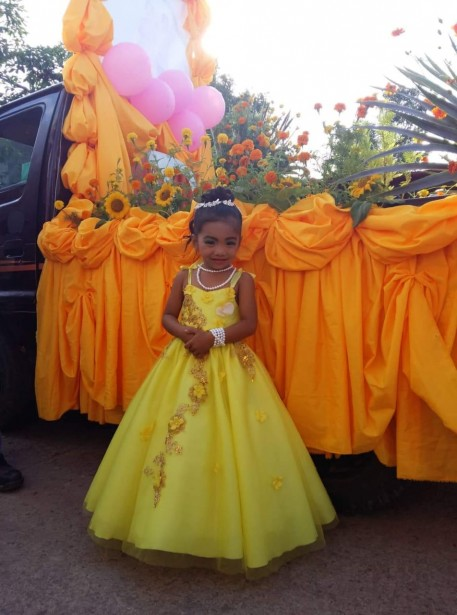 """Queen of Barangay Capinahan, is our very own """"April Rose""""."""